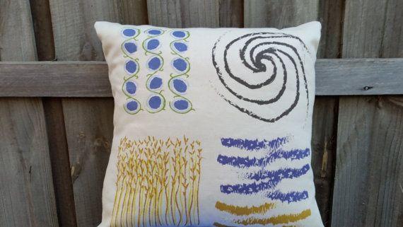 Organic Fibre Hemp and Cotton Cushion Cover by GraceArising