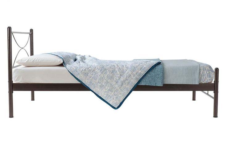 Κρεβάτι Mandelon μεταλλικό 110x200 σφυρήλατο καφέ