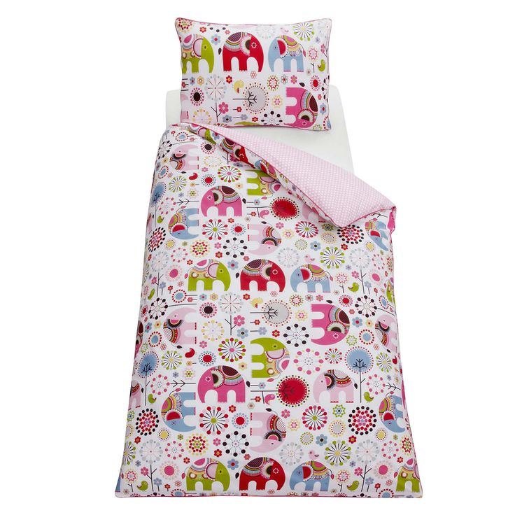 Buylittle home at John Lewis Abbey Elephant Duvet Cover and Pillowcase Set, Single Online at johnlewis.com