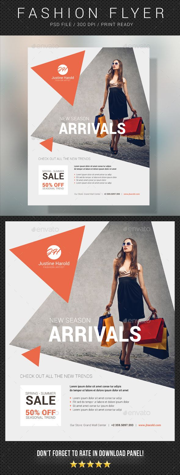 Create bold flyers, ads, promotions or presentations with this PSD template to give your business, company or store a professional design edge! Included with this professionally designed PSD file is a template to help you create beautifully crafted flyers for
