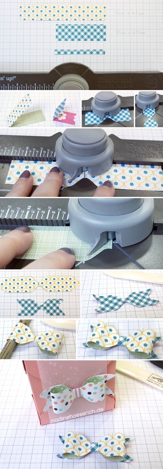 Envelope Punch Board Bows: