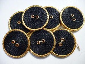 bottone-gioiello-ORO-BLU-SOUTACHE-alta-moda-vintage-BUTTONS-KNOPFE