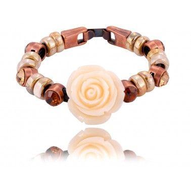 beige roses/bracelet By Dziubeka