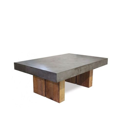 Reclaimed Teak and Concrete top dining table - Grey