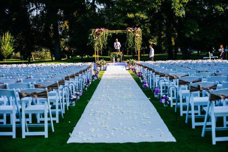 Ceremonia, bride, matrimonio, Arco de flores