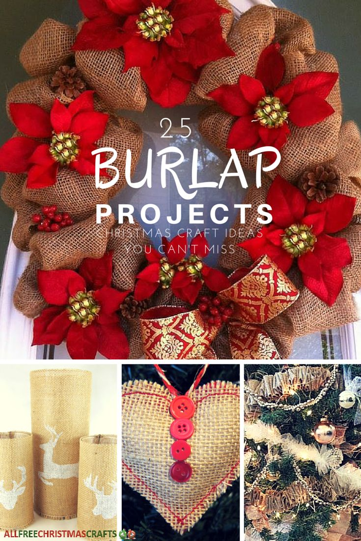 33 Burlap Projects Christmas Craft Ideas You Can't Miss