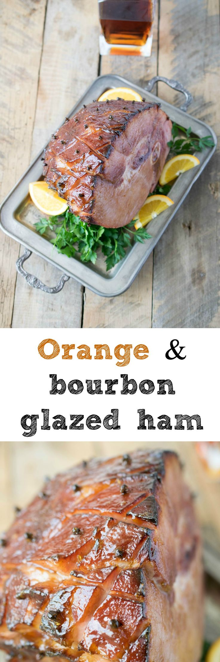 Bourbon-Orange-Glazed Ham Recipe — Dishmaps