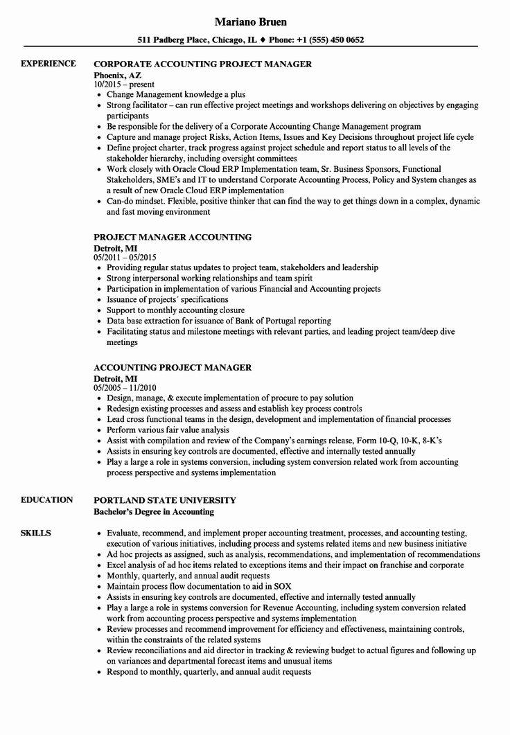 23 Project Management Job Description Resume Project