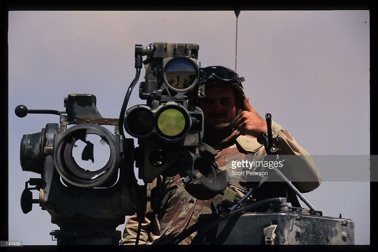 An unidentified US Marine gives the thumbs-up signal at his station MAy 31, 1997 in Qatraneh, Jordan. The forces are taking part in military exercises called 'Infinite Moonlight' which will further congeal relations between both countries.