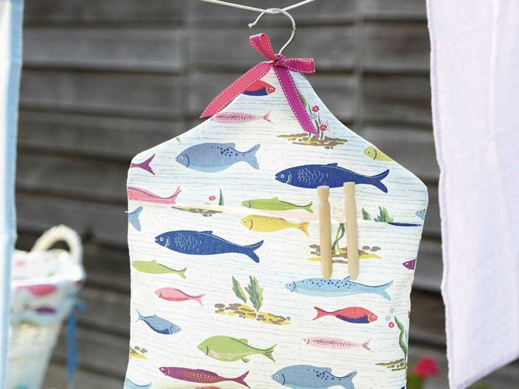 Make laundry day a breeze by stitching this lovely laundry peg bag in pretty fabric