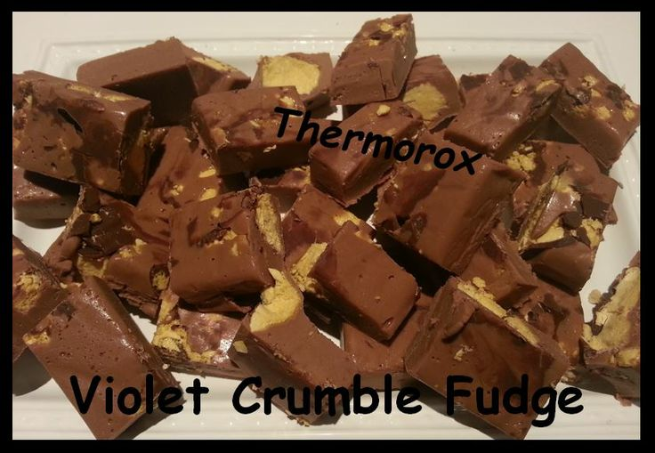 Super easy and quick Violet Crumble Fudge   https://www.facebook.com/Thermorox/photos/a.616723258388816.1073741845.578853625509113/697837550277386/?type=1&theater