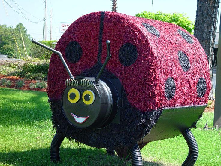 Lady Bug Hay Bale, Bauman Chiropractic - Panama City FL - www.baumanchiropractic.net