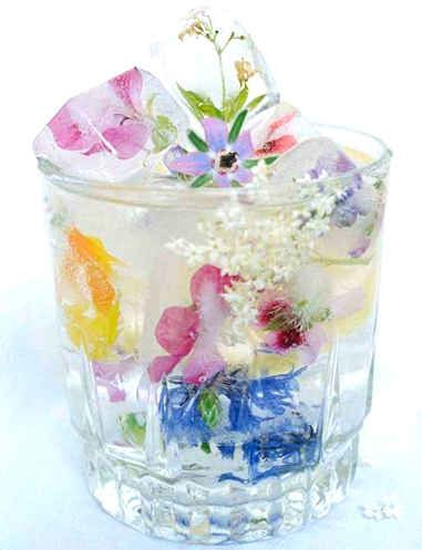 Edible Wildflower Ice Cubes