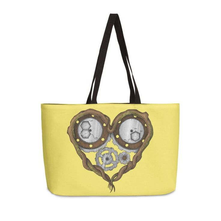 «Chemistry of love: dopamine and serotonin formula (color version)» #Beatrizxe   #Threadless #bag #tote #toteBag Design based on the chemistry of love. It is represented by a tree trunk with heart form. Inside of it, there are several gears that they have recorded the chemical formula of dopamine and serotonin. #Chemistry #love #tree #trunk #heart #gear #formula #dopamine #serotonin #Valentines #ink #tattoo #illustration #artwork #drawing #tattoo #design #vintage #steampunk