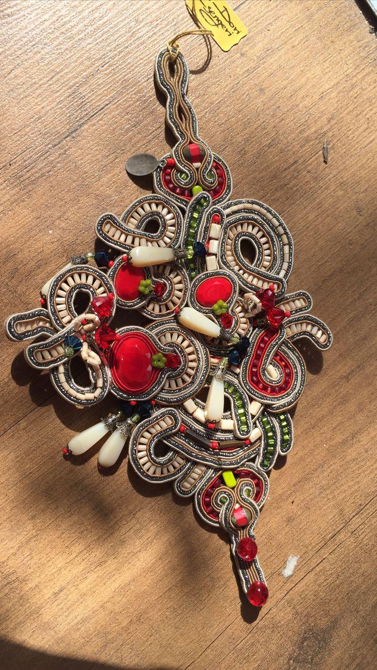Joy Haute Couture Bracelet. #doricsengeri #hautecouture #bracelet #Accessories #Statement #Design #Ethnic #red
