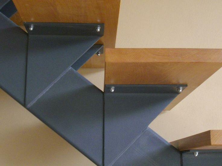 la forge de Taranis | Escalier à limon central marches Hêtre