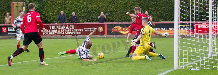 Queen's Park's Aiden Malone stretches for the ball during the Ladbrokes League One game between Brechin City and Queen's Park.