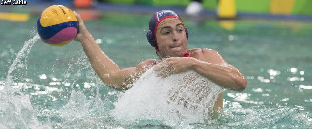 Rio de Janeiro, Brazil - August 10 - The U.S. Olympic Men's Water Polo Team turned to their defense to earn their first win at the 2016 Olympic Games as they stopped France today 6-3. Josh Samuels (Villa Park, CA/UCLA/NYAC) scored three goals to lead the offense but it was the defense anchored by McQuin Baron's (North Tustin, CA/USC/Regency) 11 saves that set the tone. Team USA held France scoreless for the entire second and third quarter on the way to the win.
