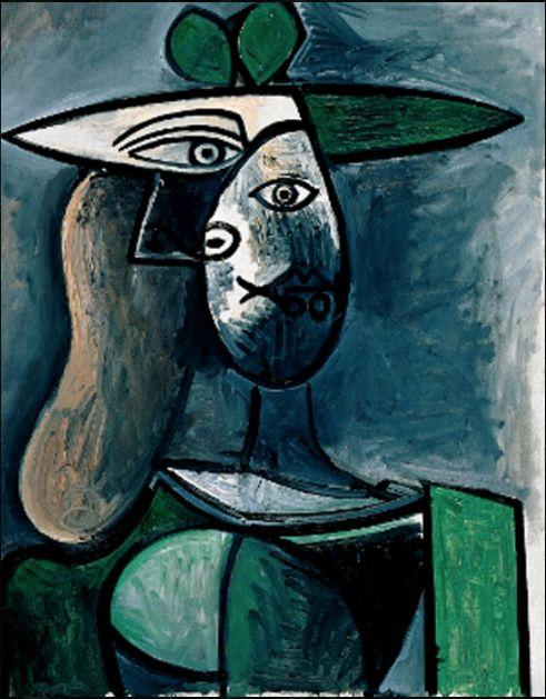 Pablo Picasso, Donna col cappello verde, 1947.