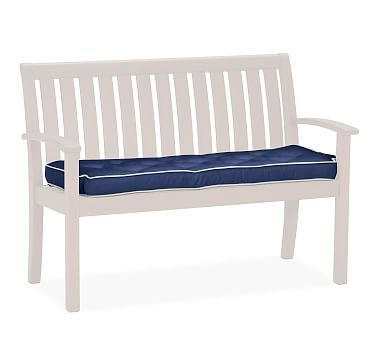 universal bench replacement cushion sunbrellar contrast piped jockey red - Sunbrella Replacement Cushions