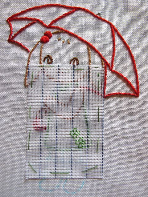 How to use Waste Canvas to Embroidery on Clothing (1) ...by Joey's Dream Garden