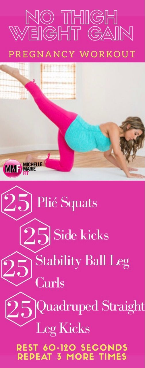 Pregnancy Workout To Help Control Weigh Gain In the Thighs. No gym required.