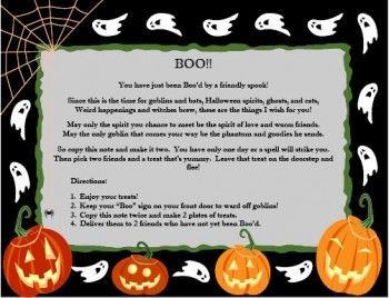 Thatu0027s the message that seems to be getting more common each year as neighbors leave gifts or treats on each otheru0027s doorsteps with a Halloween boo poem.  sc 1 st  Pinterest & 46 best Youu0027ve been BOOu0027d images on Pinterest | Holidays halloween ... pezcame.com