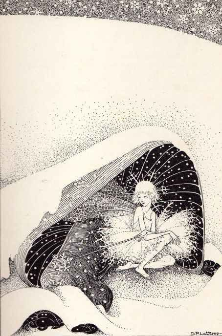 'The Fairy in Winter' from the book 'Down-Adown-Derry. A Book of Fairy Poems', 1922 by Walter De La Mare, ill. by Dorothy P. Lathrop