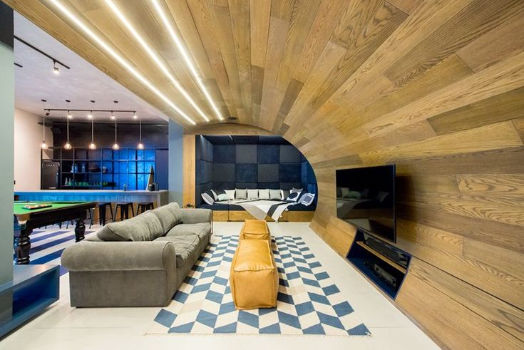 Inhouse Brand Architects has converted the unused lounge area of a Cape Town residence into an industrial-inspired dream pad featuring an indoor skate bowl #living #room