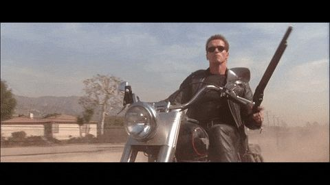 #ArnoldSchwarzenegger tore his skin several times filming the sequence cocking the shotgun in #Terminator2 (1991)
