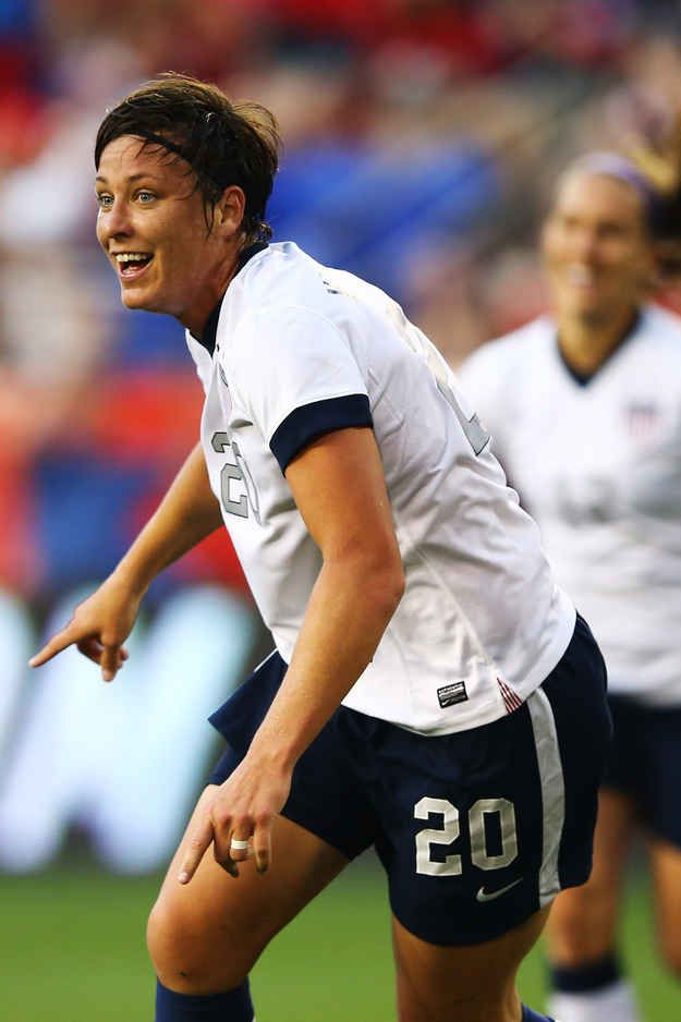 U.S. women's soccer star and two-time Olympic gold medalist Abby Wambach married her longtime girlfriend and teammate Sarah Huffman this past weekend.