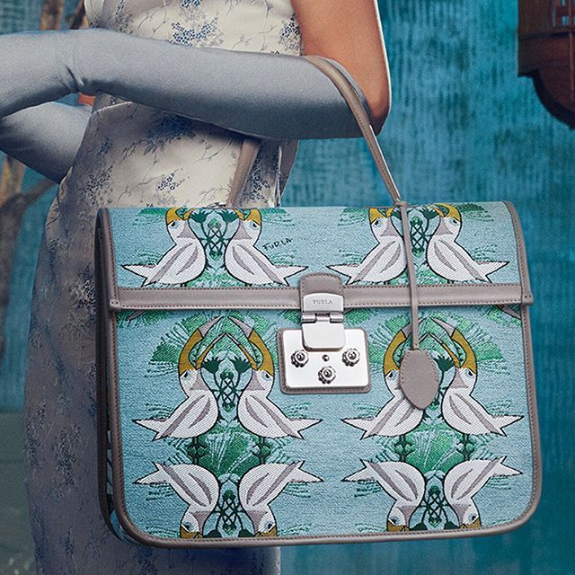 b202b72c3aa The Furla Fenice bag features a show-stopping pattern. Discover more about our  SS18 collection via the link in bio.