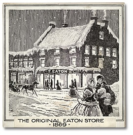Artist's rendition of the original Yonge Street Eaton's store, Toronto 1919