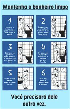 avisos educados para banheiro