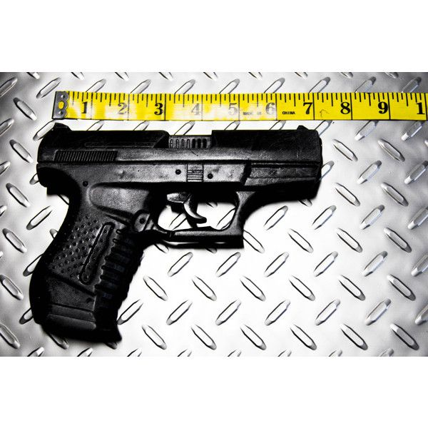 Single P99 Pistol movie prop handguns- perfect for Black Widow,... ($29) ❤ liked on Polyvore featuring costumes, black widow cosplay costume, black widow costume, marvel costumes, cosplay costumes and black widow spider halloween costume
