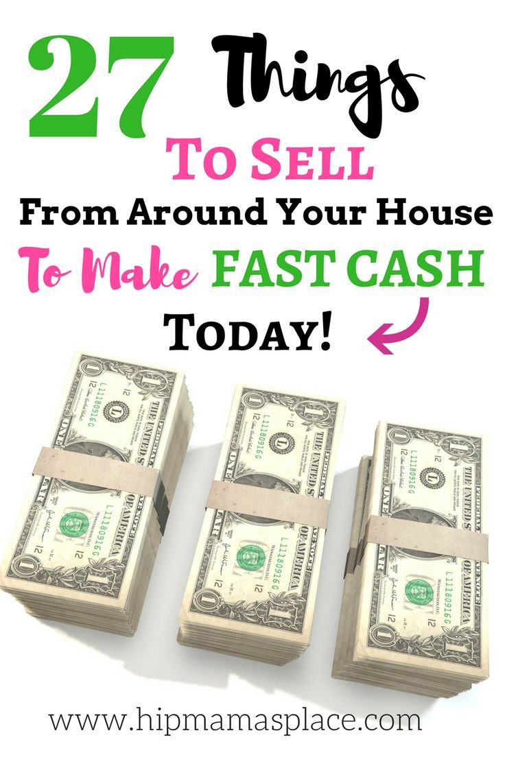 Here are things from around your house to sell for fast cash today! If you need extra money for Christmas this year - this is a great way to earn it!