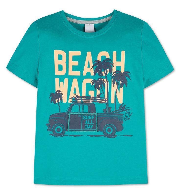 Sklep internetowy C&A | Koszulka z bawełny ekologicznej, kolor:  ciemnoturkusowy | Dobra jakość w niskiej cenie