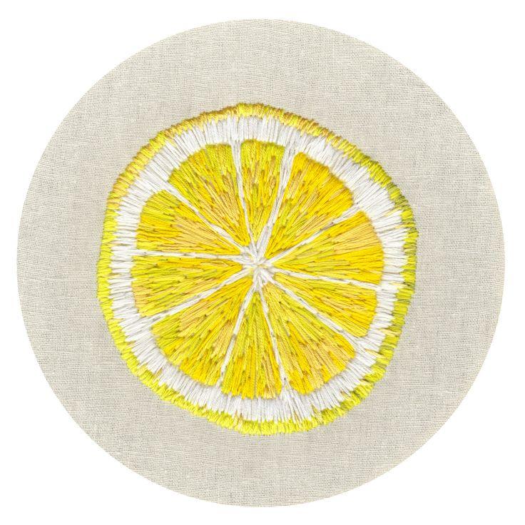 lemon embroidery More