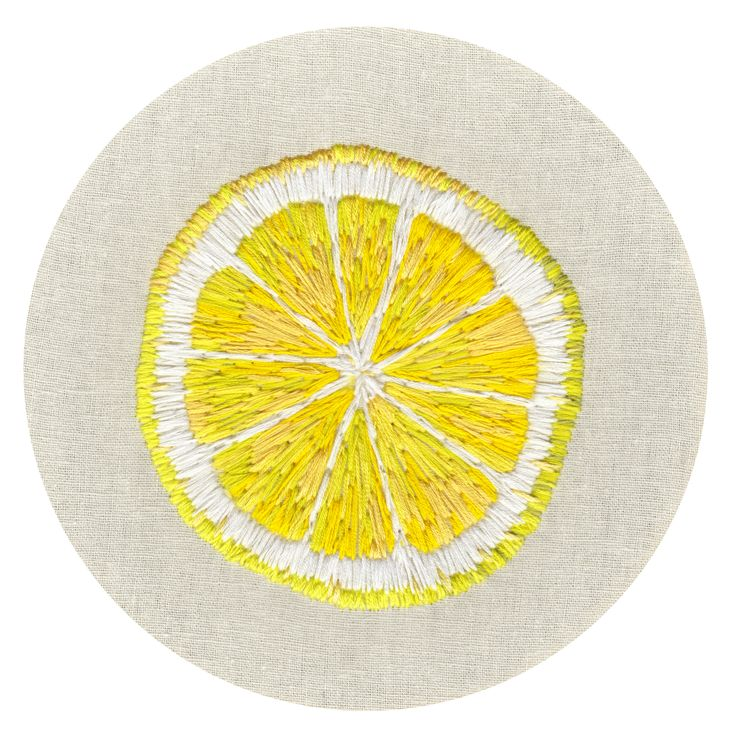 lemon embroidery More