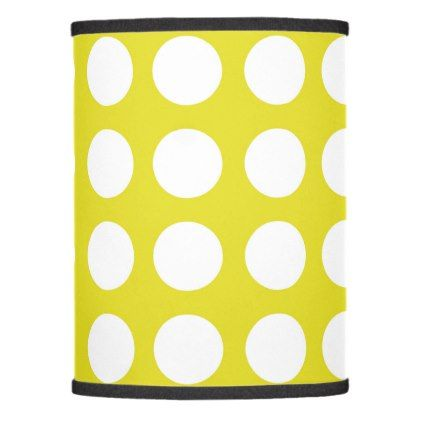 big dot yellow lamp shade - home gifts ideas decor special unique custom individual customized individualized