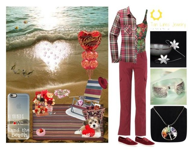 """""""A Beachy Valentine with Tan Line Jewelry"""" by pinky-dee ❤ liked on Polyvore featuring Keen Footwear, Lygia & Nanny, Kuhl, Keds, Paul Smith, Telescope Casual, Vera Bradley, Moschino, Sisley and PANTROPIC"""