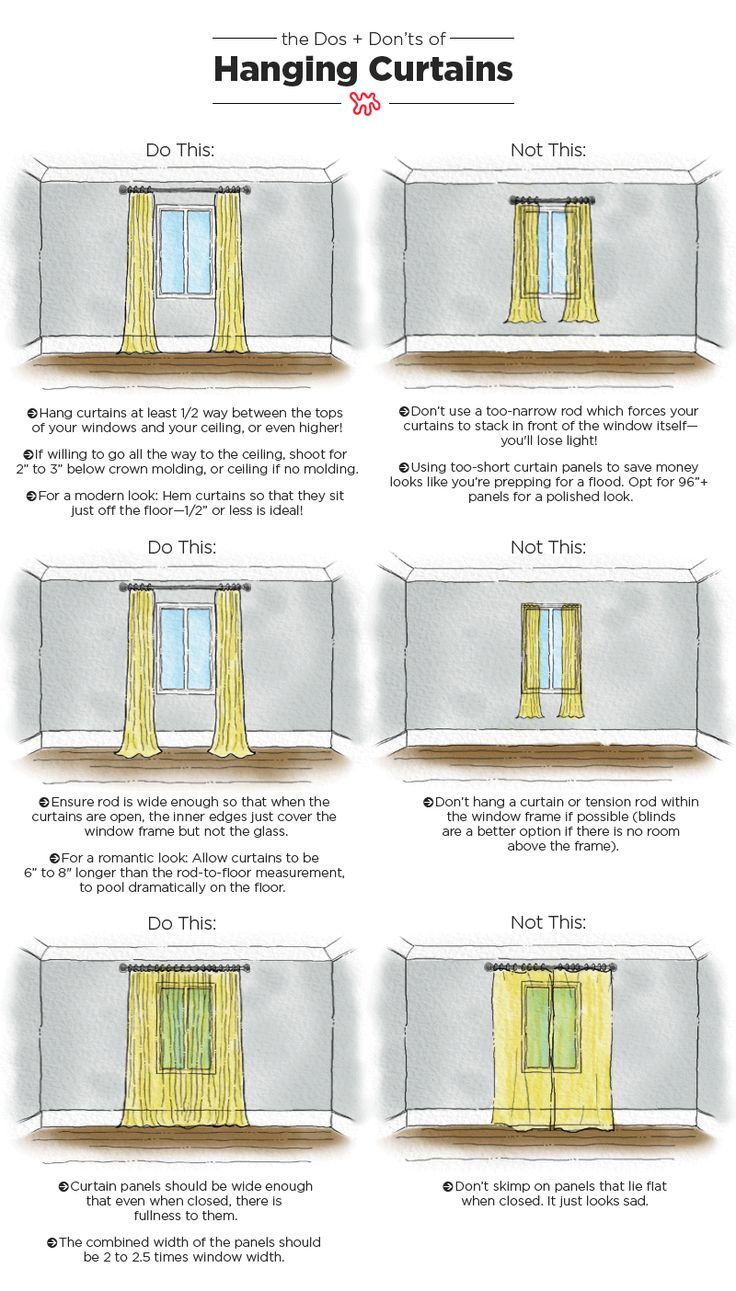 The Dos & Don'ts of Hanging Curtains: An Illustrated Guide — Be Your Own Designer