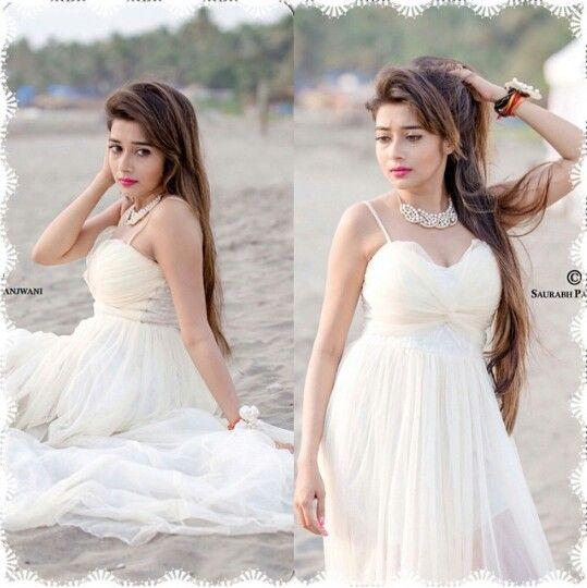 Beautiful white dress Tina Dutta