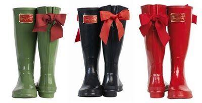 YES please!!!Shoes, Joules Posh, Rainboots, Rain Boots, Style, Bows, Posh Wellies, Tom Joules, Joules Wellies