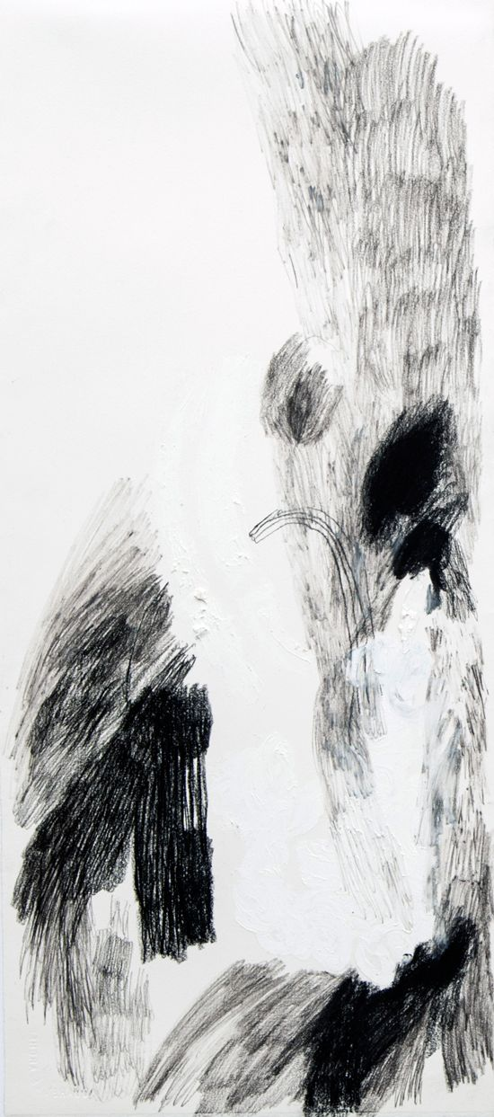 Lucy Jane Turpin, 'Untitled 34' (2016), Oil bar and charcoal on Arches,  57 x 24cm