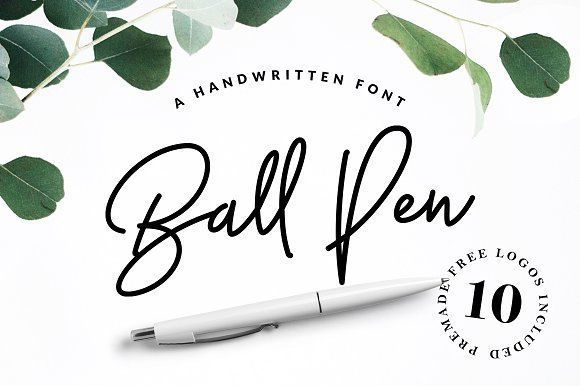 Ball Pen Handwritten Font by VladCristea on @creativemarket