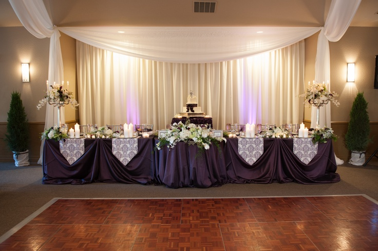 Wedding Reception Decorations Head Table : Head table i like the cake behind so you