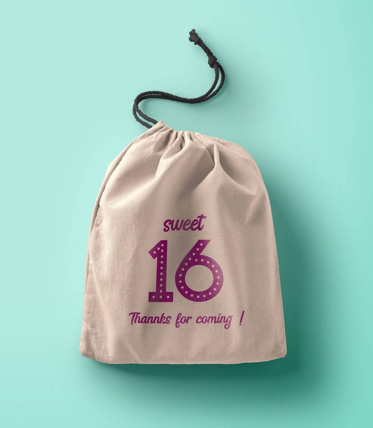Excited to share the latest addition to my #etsy shop: Sweet 16 favors-Favorbag-Sweet 16-sweet sixteen party-16th birthday party favor custom party favors-Muslin cotton drawstring bags-Thank you- http://etsy.me/2n6RIYG #papergoods #personalized #partyfavors #favorbags