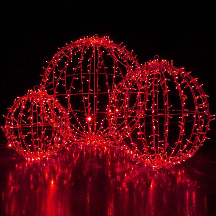 red led commercial mega sphere christmas light ball fold flat - Christmas Light Spheres