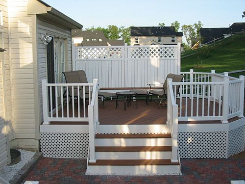 Deck Idea Projects Pinterest Ideas Decks And Fence